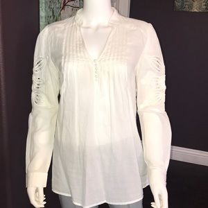 UEC Marciano white peasant blouse, small